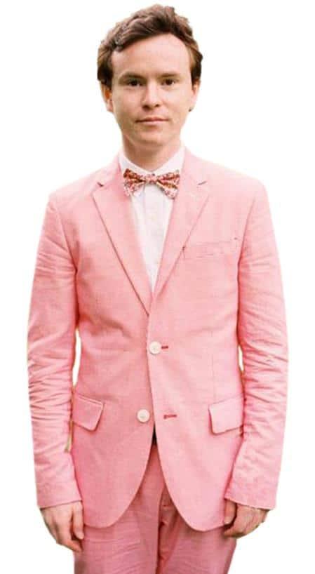 Boys peach suit