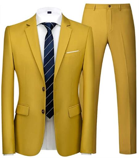 Boys yellow suit