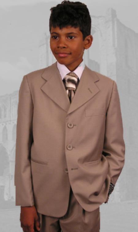 Boys tan suit