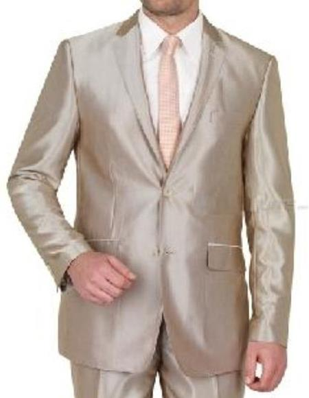 Boys taupe suit